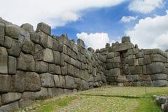 Ancient inca ruins of Sacsayhuaman royalty free stock photos