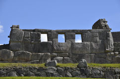 Ancient Inca Temple on Machu Picchu Stock Image