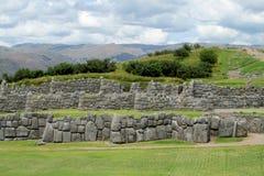 Ancient inca wall ruin in Peru stock photo