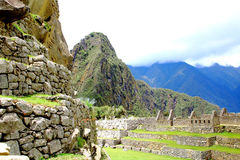 Ancient Incan city of Machu Picchu, Peru Royalty Free Stock Photo