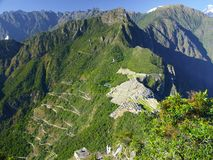 Ancient Incan city of Machu Picchu Royalty Free Stock Photos
