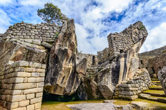 Ancient incas town of Machu Picchu. Peru Royalty Free Stock Image