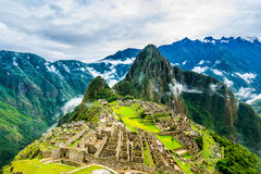Ancient incas town of Machu Picchu. Peru Stock Photography