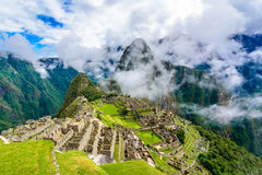 Ancient incas town of Machu Picchu. Peru Royalty Free Stock Photography