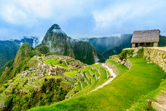Ancient incas town of Machu Picchu. Peru Royalty Free Stock Images