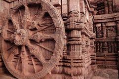 Ancient Indian architecture at Konark. Ancient architecture design at Konark temple India Stock Photo