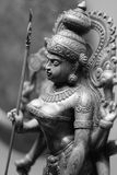 An ancient Indian bronze statuette of the goddess of fortune Stock Photos