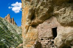Ancient Indian Dwelling. Ancient cliff dwelling inhabited by the Anasazi Indians of central Arizona Royalty Free Stock Photo