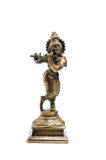 Ancient indian figure of Krishna God. Isolated stock photo