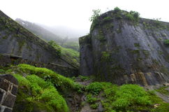 Ancient Indian fort-Lohgad Stock Image