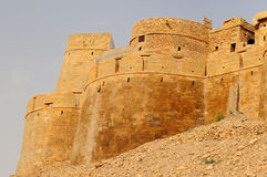 Ancient Indian fortification in Jaisamler Royalty Free Stock Photos