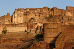 Ancient Indian fortification in Jodphur Royalty Free Stock Image