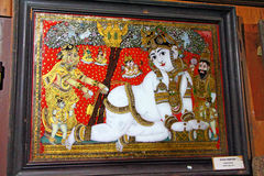 Ancient Indian glass paintings. Folklore Museum Stock Photography
