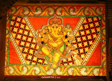 Ancient Indian Paintings. Folklore Museum Royalty Free Stock Photos