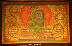 Ancient Indian paintings. Folklore Museum Stock Images