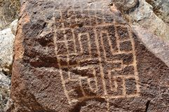 Ancient Indian Petroglyph Stock Photos