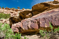 Ancient Indian Petroglyph Stock Photos