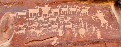 Ancient Indian Petroglyph Royalty Free Stock Image