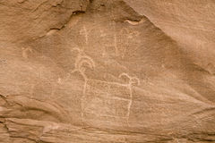 Ancient Indian Petroglyph Stock Photography