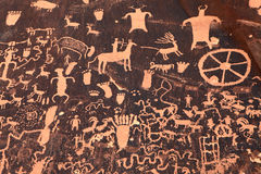 Ancient Indian Petroglyph in Moab, Utah Stock Image