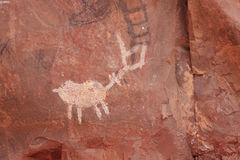 Ancient Indian Pictographs Royalty Free Stock Photography