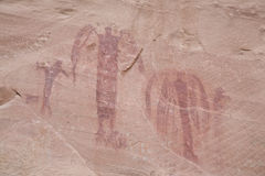 Ancient Indian Pictographs Stock Photography
