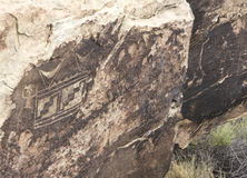 Ancient Indian Pictographs in the Arizona Desert Royalty Free Stock Photos