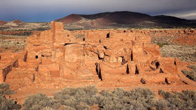 Ancient Indian Pueblo at Wupatki National Monument Royalty Free Stock Photos