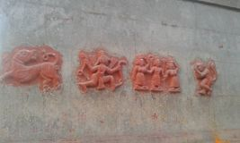 Ancient indian sculpture Stock Photos