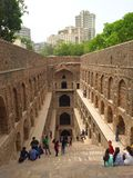 Ancient Indian step well - Agrasen ki Baoli Stock Photo