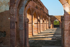 Ancient Indian temple, old fortress ruins Royalty Free Stock Photo