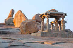 Ancient Indian temple, old fortress ruins. Great monument Royalty Free Stock Images