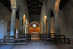 Ancient indoor church Royalty Free Stock Image