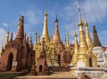 Shwe Inn Dain Pagoda, Inle lake, Myanmar royalty free stock photos