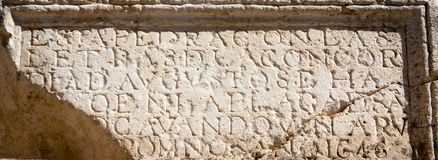 Ancient inscription Royalty Free Stock Photography