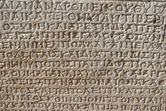 Ancient inscriptions Royalty Free Stock Photo