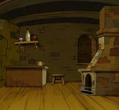 Ancient Interior. Fairy tales Ancient Interior (cartoon art Royalty Free Stock Photo