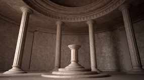 Ancient interior. 3d render. 3d visualisation Royalty Free Stock Image