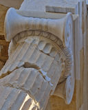 Ancient ionian order column detail Royalty Free Stock Photo