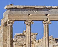 Ancient ionian order Greek temple detail Royalty Free Stock Photo