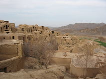 Ancient Iran. A mud house village from the Silk route Stock Images