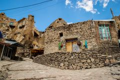Ancient Iranian cave village in the rocks of Kandovan. The legacy of Persia. UNESCO stock image