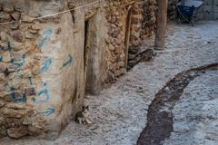 Ancient Iranian cave village in the rocks of Kandovan. The legacy of Persia stock images