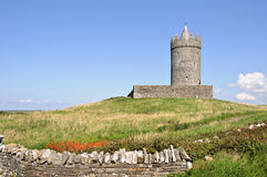 Ancient irish castle on west coast ireland Royalty Free Stock Images