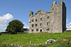 Ancient irish castle on west coast ireland Stock Photography