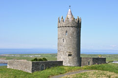 Ancient irish castle on west coast ireland Stock Photo