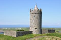 Ancient irish castle on west coast ireland stock photo