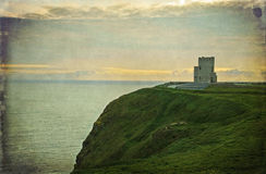 Ancient irish castle, west coast of ireland Stock Photography