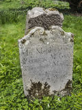 The ancient irish grave. An old grave stone in Ireland Royalty Free Stock Images