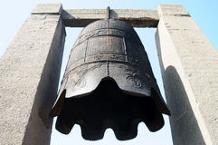 Ancient iron bell royalty free stock photo